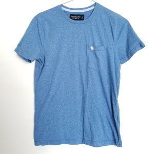 Abercrombie & Fitch Men's Soft Tee Blue Shirt Top